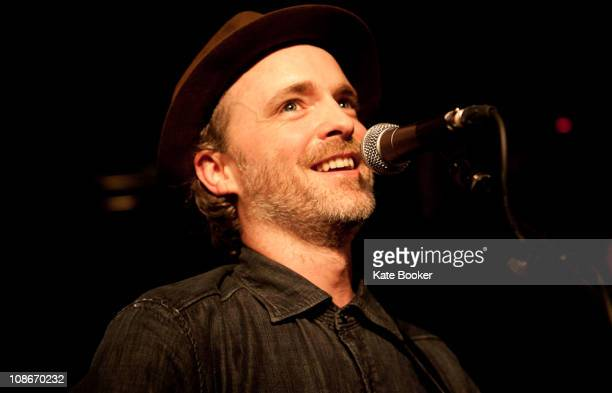 Fran Healy performs on stage at Dingwalls on January 31 2011 in London England