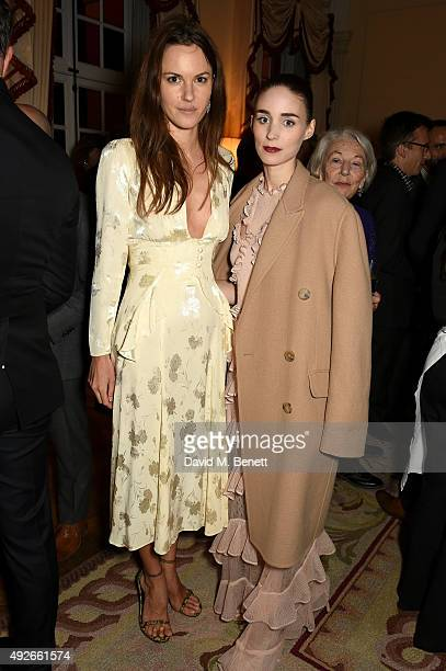 Fran Hickman and actress Rooney Mara attend The Academy Of Motion Pictures Arts Sciences new members reception hosted by Ambassador Matthew Barzun...
