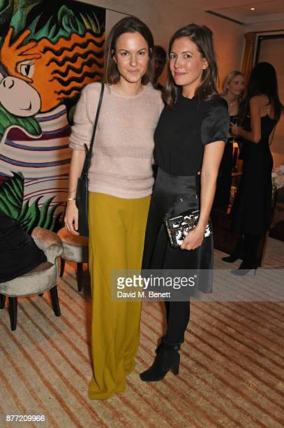 Fran Hickman and Amanda Sheppard attend Louis Vuittons Celebration of GingerNutz in Vogue's December Issue on November 21 2017 in London England