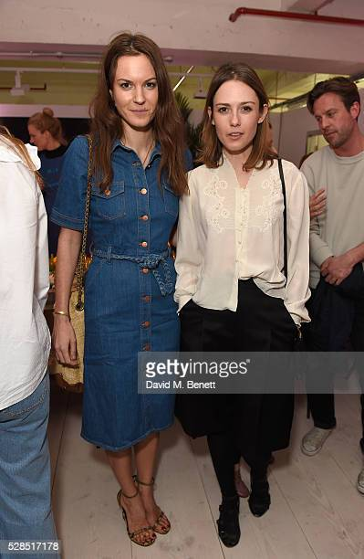 Fran Hickman and Caroline Leaver attend a private dinner hosted by Mih Jeans to celebrate their 10th anniversary at Brewer Street Car Park on May 5...