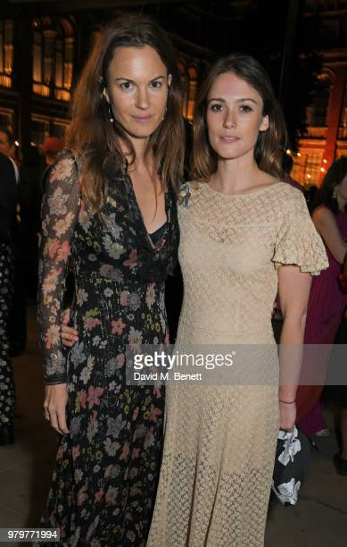 Fran Hickman and Caroline Lever attend the Summer Party at the VA in partnership with Harrods at the Victoria and Albert Museum on June 20 2018 in...