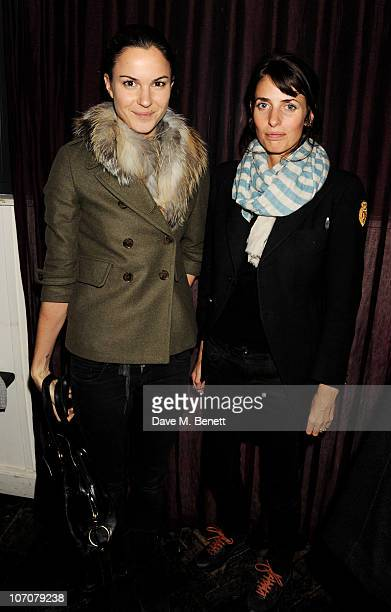 Fran Hickman and Marina Hanbury attend the premiere of 'Ultrasuede In Search Of Halston' at The Electric Cinema on November 22 2010 in London England