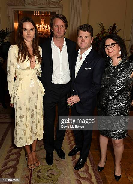 Fran Hickman director Tom Hooper Ambassador Matthew Barzun and Lucy Donnelly attend The Academy Of Motion Pictures Arts Sciences new members...