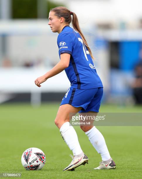 Fran Kirby of Chelsea during the Barclays FA Women's Super League match between Chelsea Women and Manchester City Women at Kingsmeadow on October 11...