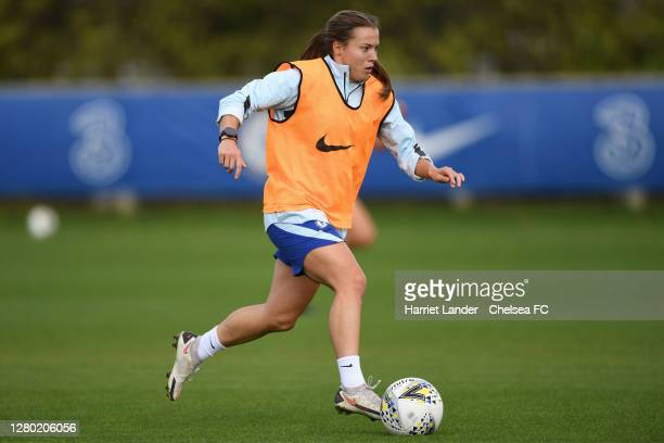 Fran Kirby of Chelsea in action during a Chelsea FC Women's Training Session at Chelsea Training Ground on October 14 2020 in Cobham England