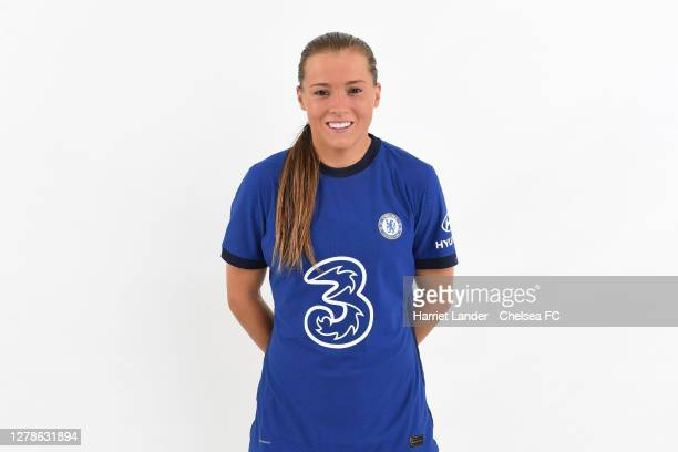 Fran Kirby of Chelsea poses for a portrait during a Chelsea FC Women's Photocall at Chelsea Training Ground on October 05, 2020 in Cobham, England.
