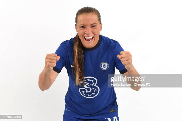 Fran Kirby of Chelsea poses for a portrait during a Chelsea FC Women's Photocall at Chelsea Training Ground on October 05 2020 in Cobham England
