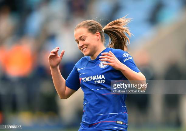 Fran Kirby of Chelsea reacts during the Women's FA Cup Semi Final match between Manchester City Women and Chelsea Women at The Academy Stadium on...