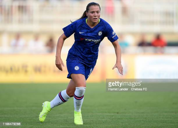 Fran Kirby of Chelsea runs on during the Women's French Cup SemiFinal Match between Chelsea Women and Montpellier Herault Sport Club Feminines at...