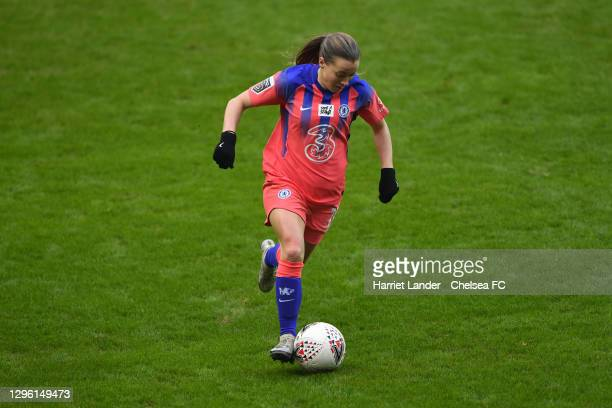 Fran Kirby of Chelsea runs with the ball during the Barclays FA Women's Super League match between Reading Women and Chelsea Women at Madejski...