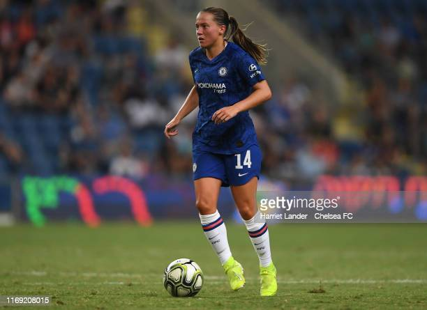 Fran Kirby of Chelsea runs with the ball during the PreSeason friendly match between Israel National Team and Chelsea Women at Hamoshava Stadium on...