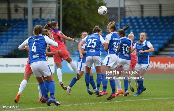 Fran Kirby of Chelsea scores her team's first goal during the Barclays FA Women's Super League match between Birmingham City Women and Chelsea Women...
