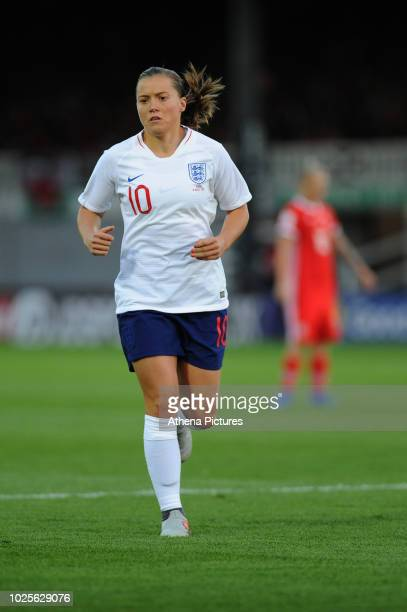 Fran Kirby of England Women runs during the FIFA Women's World Cup Qualifier match between Wales and England at Rodney Parade on August 31 2018 in...