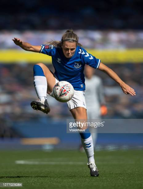 Fran Kirby of Everton in action during the Womens FA Cup Quarter Final match between Everton FC and Chelsea FC at Goodison Park on September 27 2020...