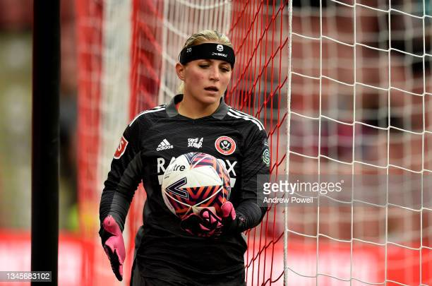 Fran Kitching of Sheffield United Women during the Barclays FA Women's Championship match between Sheffield United Women and Liverpool Women at...
