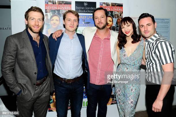 Fran Kranz Tim Eliot Keith Boynton Erin Darke and Max Von Essen attend 'Seven Lovers' Film Screening at Anthology Film Archives on June 2 2017 in New...
