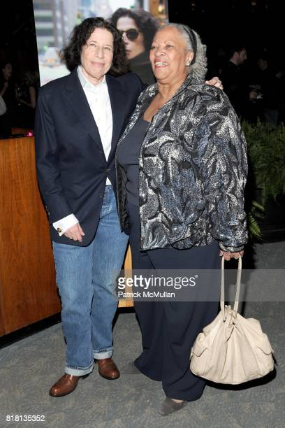 Fran Lebowitz and Toni Morrison attend The HBO Documentary Films Premiere of PUBLIC SPEAKING After Party at Four Seasons Restaurant on November 15...
