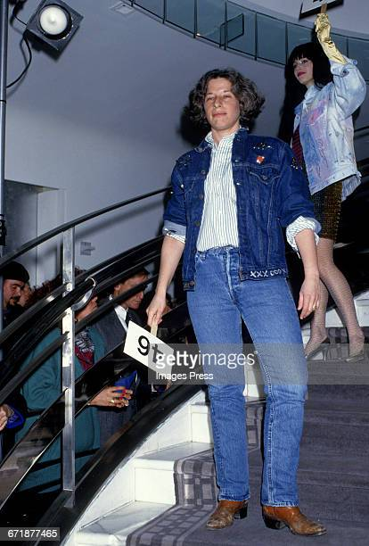 Fran Lebowitz attends the Celebrity Fashion Show Benefiting AIDS Patients of St Vincent Hospital at Barney's circa 1986 in New York City