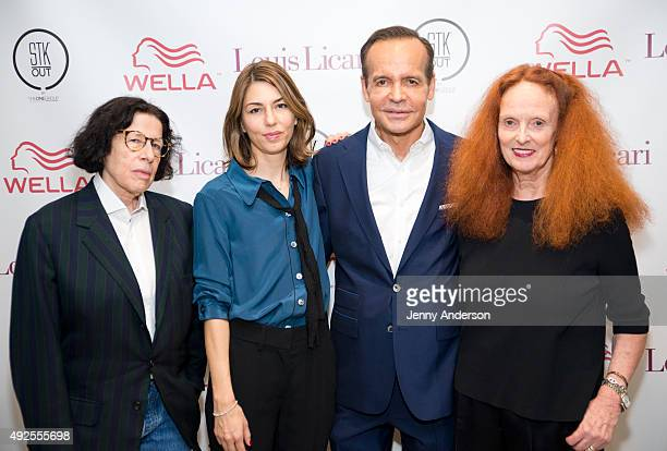 Fran Lebowitz Sofia Coppola Louis Licari and Grace Coddington attend Louis Licari Salon Grand Opening on October 13 2015 in New York City