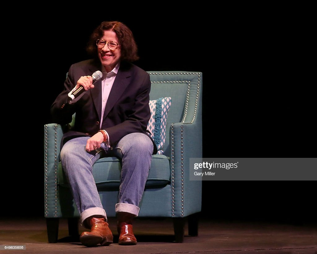 Fran Lebowitz speaks with Evan Smith of The Texas Tribune on International Women's Day at the Long Center on March 8, 2017 in Austin, Texas.