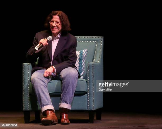 Fran Lebowitz speaks with Evan Smith of The Texas Tribune on International Women's Day at the Long Center on March 8 2017 in Austin Texas