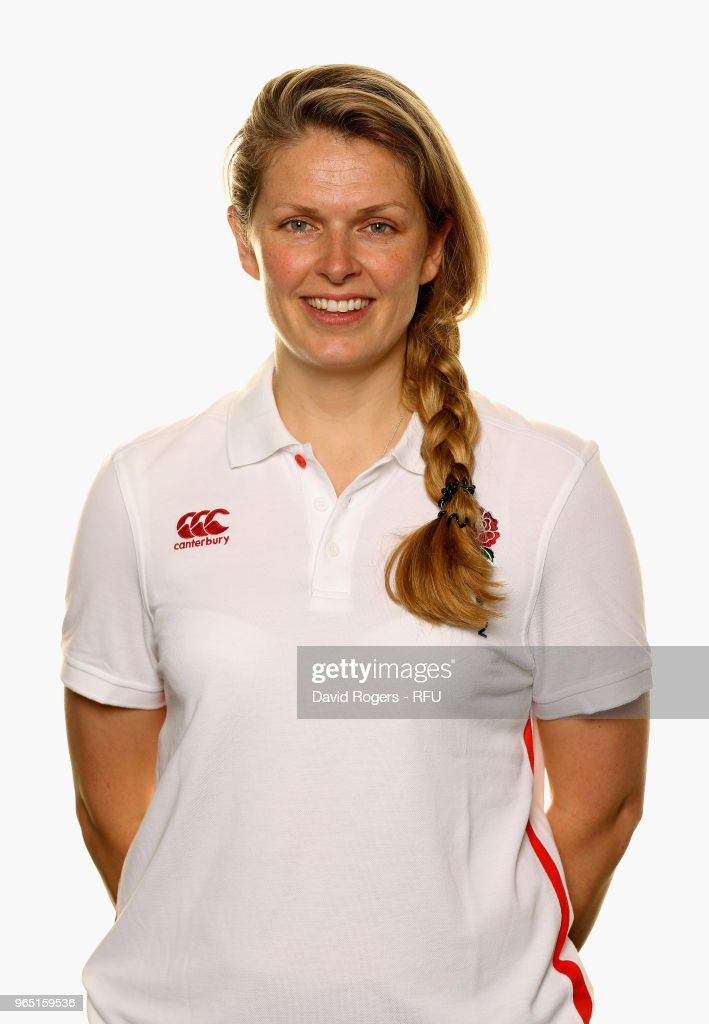Fran Leighton, administrative manager of England poses for a portrait during the England Elite Player Squad Photo call held at Pennyhill Park on June 1, 2018 in Bagshot, England.