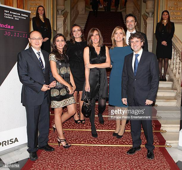 Fran Llorente Ana Pastor Pepa Bueno Ana Blanco Maria Casado Marcos Lopez and Santiago Gonzalez attend the 58th Ondas Awards 2011 at Palacete Albeniz...