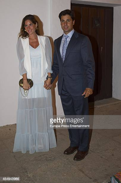Fran Rivera and Lourdes Montes attend Goyesca Bullfights on September 6 2014 in Ronda Spain The bullfight events linked to The Feria Goyesca stem...