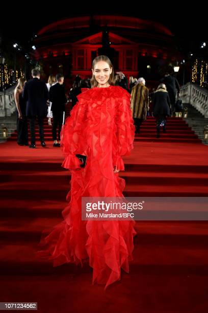Fran Summers arrives at The Fashion Awards 2018 In Partnership With Swarovski at Royal Albert Hall on December 10 2018 in London England