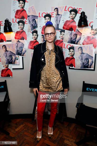 Fran Summers attends the #MOVINGLOVE screening hosted by Derek Blasberg Katie Grand at Screen on the Green on July 15 2019 in London England