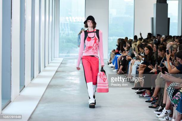 Fran Summers walks the runway at Michael Kors September 2018 New York Fashion Week at Pier 17 on September 12 2018 in New York City