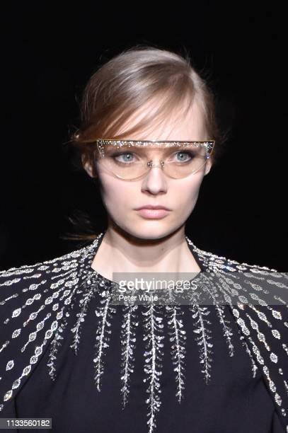 Fran Summers walks the runway during the Givenchy show as part of the Paris Fashion Week Womenswear Fall/Winter 2019/2020 on March 03 2019 in Paris...