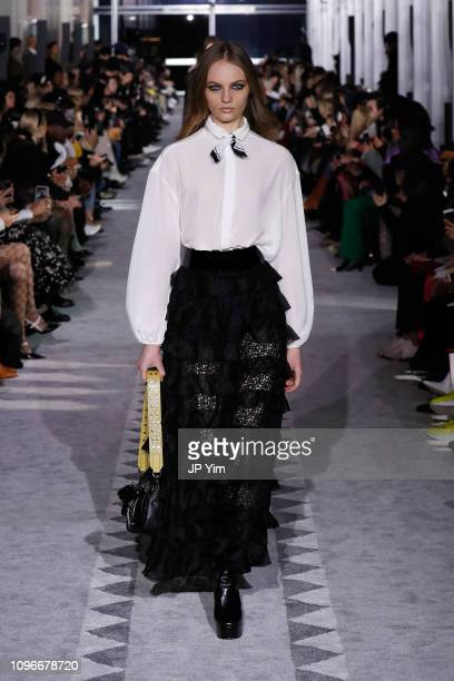 Fran Summers walks the runway look 38 during the Longchamp FW19 Runway Show on February 9 2019 in New York City