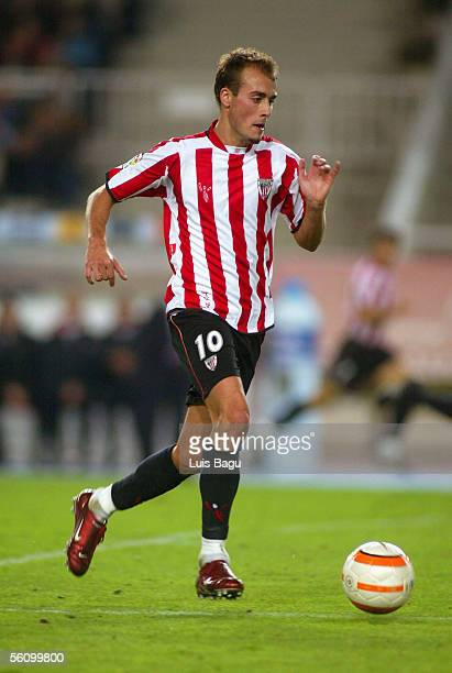 Fran Yeste of Athletic in action during the La Liga match between RCD Espanyol and Athletic de Bilbao at the Lluis Companys stadium on November 5 in...