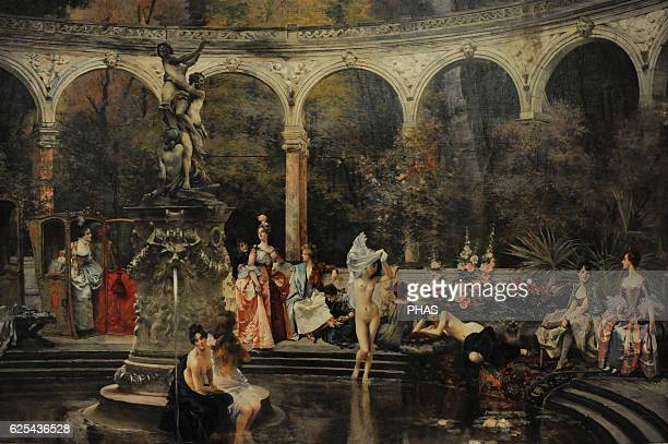 Franc_ois Flameng French painter The Bathing of Court Ladies in the 18th Century 1888 Oil on canvas The State Hermitage Museum Saint Petersburg Russia
