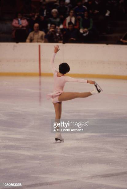 Franca Bianconi competing in the Women's figure skating event at the 1980 Winter Olympics / XIII Olympic Winter Games Olympic Center