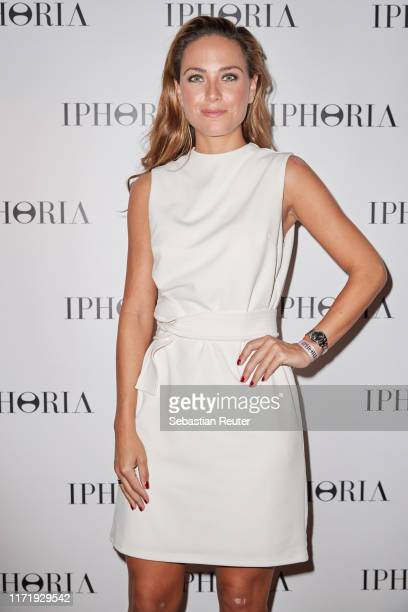 Franca Lehfeldt attends the Iphoria Influencer event at Hotel Zoo on August 30, 2019 in Berlin, Germany.