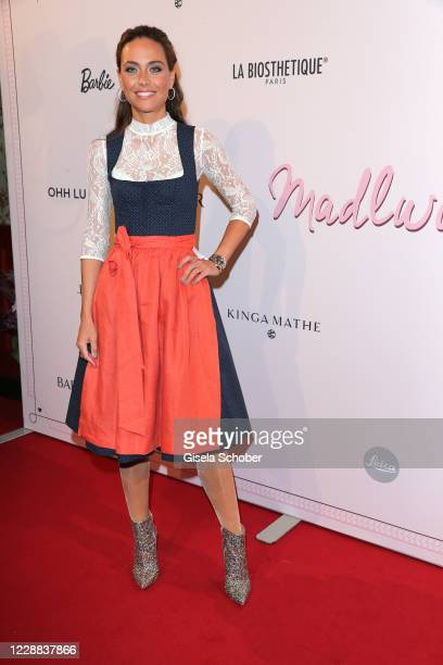 Franca Lehfeldt attends the Madlwiesn 2020 at Restaurant Borchardt on October 1, 2020 in Berlin, Germany.