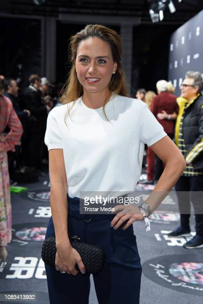 Franca Lehfeldt attends the Riani fashion show during the Berlin Fashion Week Autumn/Winter 2019 at ewerk on January 16 2019 in Berlin Germany