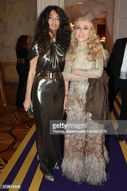 Franca Sozzani and Afef Jnifen attend the AIDS Solidarity Gala at Hofburg Vienna on May 16 2015 in Vienna Austria