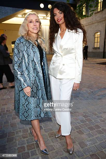 Franca Sozzani and Afef Jnifen attend the Fondazione Prada Opening on May 3 2015 in Milan Italy