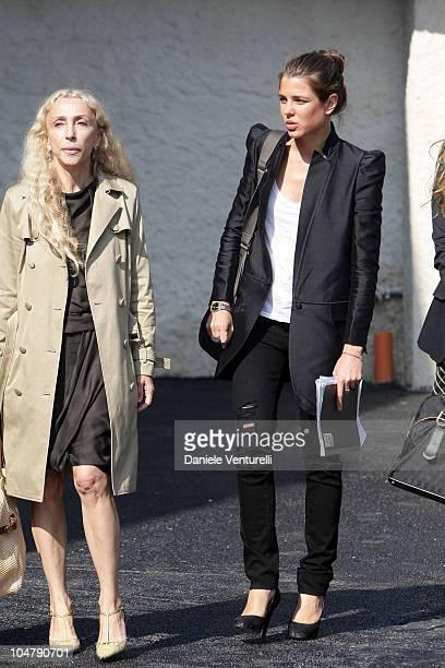 Franca Sozzani and Charlotte Casiraghi attend the Cittadellarte Fashion Bio Ethical Sustainable Trend Opening at the Fondazione Pistoletto on...