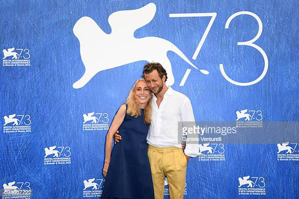 Franca Sozzani and director Francesco Carrozzini attend the photocall of 'Franca Chaos And Creation' during the 73rd Venice Film Festival at Palazzo...