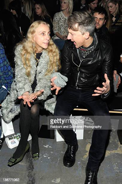 Franca Sozzani and Jefferson Hack attend the Alexander Wang Fall 2012 fashion show during MercedesBenz Fashion Week at Pier 94 on February 11 2012 in...