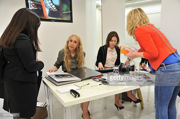 Franca Sozzani and Lisa Armstrong attend Vogue Experience at Harvey Nichols on June 8, 2011 in London, England.