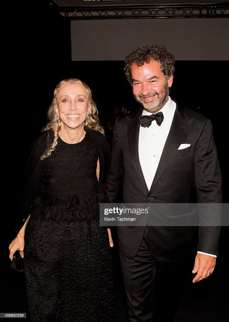 Franca Sozzani and Remo Ruffini attend the amfAR Milano 2014 - Gala Dinner and Auction as part of Milan Fashion Week Womenswear Spring/Summer 2015 on September 20, 2014 in Milan, Italy.
