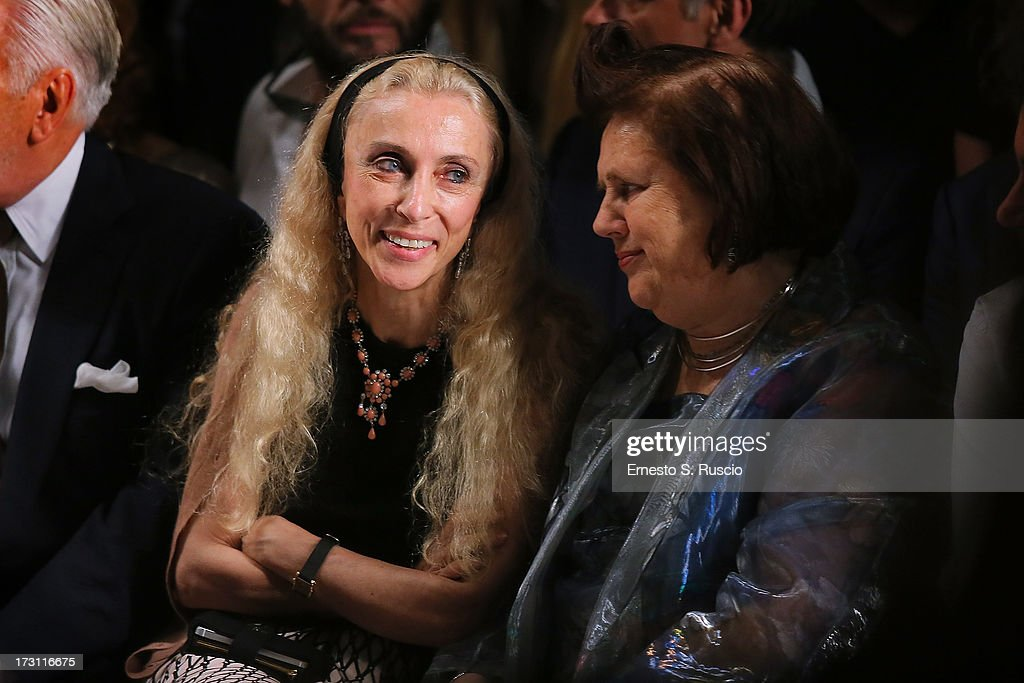 Franca Sozzani and Suzy Menkes attend the Jean Paul Gaultier Couture fashion show as part of AltaRoma AltaModa Fashion Week Autumn/Winter 2013 on July 7, 2013 in Rome, Italy.