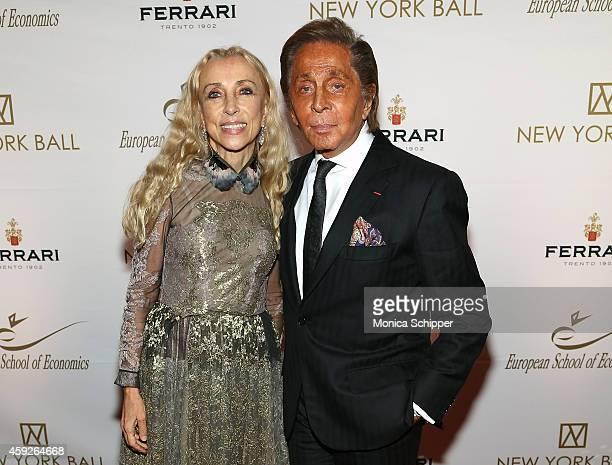 Franca Sozzani and Valentino Garavani attend The New York Ball: The 20th Anniversary Benefit For The European School Of Economics at Trump Tower on...