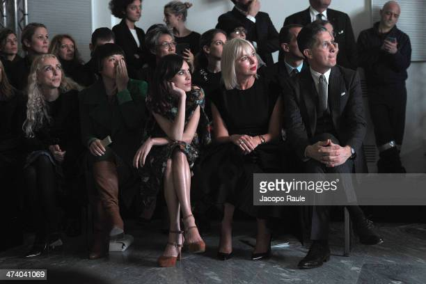 Franca Sozzani, Angelica Cheung, Alexa Chung and Stefano Tonchi attend International Woolmark Prize during Milan Fashion Week Womenswear...