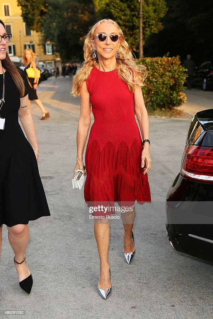 Franca Sozzani attends Coulture/Sculpture Vernissage Cocktail honoring Azzedine Alaia in the history of fashion at Galleria Borghese at Galleria Borghese on July 10, 2015 in Rome, Italy.